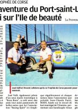 La Provence - Trophée en Corse 2016